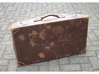 Gorgeous Vintage Leather Suitcase, fabulous wear markings
