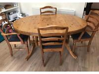 Ducal Extendable Solid Wood Table & 4 Chairs
