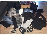 Women bundle clothes size 8-10 and shoes size 5
