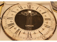 NEW HUGE 60cm Kensington Station Clock Black Roman Vintage Look Wall English