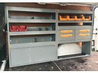 Van Racking / Shelving - StoreVan - Shelves / Drawers - Heavy Duty - Work Station - Medium-Big Van