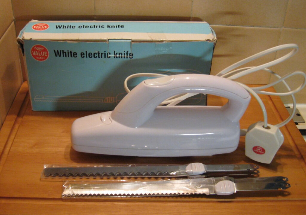 Argos Electric Knife With Two Sets Of Blades For Fresh Or Frozen