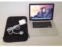 MacBook Pro 15'4inch 1TB SSD Solid Drive 16GB Memory Intel Core i7 Intel HD Graphics 3000 512 MB