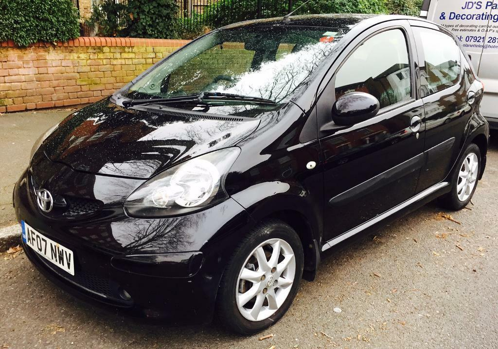 2007 toyota aygo black 1 0 vvt 81000 miles mot 5 door in stoke newington london gumtree. Black Bedroom Furniture Sets. Home Design Ideas