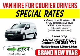 *NEED A VAN FOR COURIER FROM £160(T&C) INCLUDING COURIER INSURANCE***PLUS GOODS IN TRANSIT INSURANCE