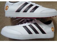 BRAND NEW ADIDAS Manchester United Size 8 Rare Deadstock Trainers Golf Shoes
