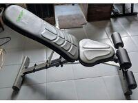 Tunturi Pure Utility Weight Bench Adjustable with Folding Design - 23.6 Stone Capacity