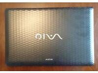 "SONY VAIO Black Laptop 15.5"" VPCEL1E1E, 4GB RAM, 320GB SATA HDD, AMD E-350, Win7"