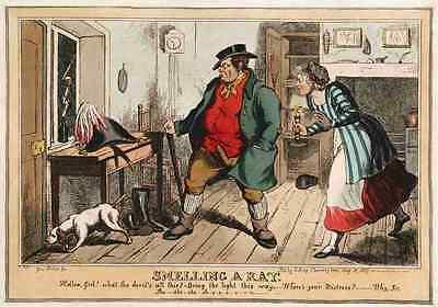 A Cartoon Rat (Smelling A Rat 1829 Vintage Photo Print A4 Cartoon Joke 001)
