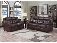 **BRAND NEW** ORIGINAL SALLY BONDED LEATHER SOFA SET 3+2 ON SALE -SAME DAY DELIVERY