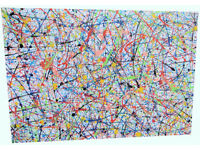 EXTRA LARGE ABSTRACT EXPRESSIONIST MODERN ART ORIGINAL ACRYLIC PAINTING ON STRETCHED 1.5M CANVAS