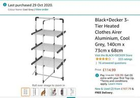 Heated clothes airer £50