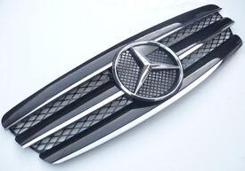 Mercedes E-class W211 pre-facelift 2002-2006 black / chrome grill