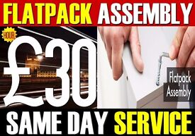 £30/HR IKEA FLAT PACK ASSEMBLY FURNITURE 02033756413 FLATPACK SAME DAY OFFICE OVAL MAN & VAN FULHAM