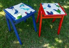 Fun colourful stools
