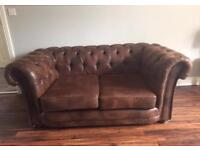 2 x 2 (not) leather chesterfield