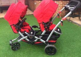Contours tandem double stroller