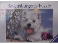 500 PIECE JIGSAW PUZZLE - WEST HIGHLAND WHITE TERRIER.