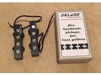 Delano JMVC 4 FE/M2 jazz bass pickups with box