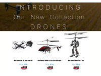 BRAND NEW BOXED HAMLEYS mini drone pro, robo flyer OR GYRO FORCE FX HELICOPTER
