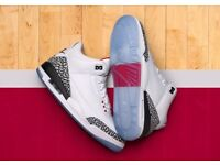 sports shoes c6e7a 0032e Nike Air Jordan 3 Retro OG AJ3 Free Throw Line FTL White Cement UK10 29cm
