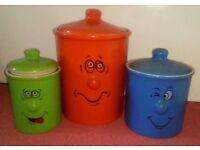Tradewinds Funny Face Storage Jars