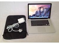 "MacBook Pro 15""4inch 500GB HDD Speed 2.8 GHz 4GB Ram Graphics NVIDIA GeForce 9400M 256 MB Capitan"