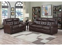 ** FAST DELIVERY** BRAND NEW SALLY 3+2 BONDED LEATHER SOFA SET ON SPECIAL OFFER
