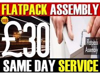 £30/HR IKEA FLAT PACK ASSEMBLY FURNITURE 02033756413 FLATPACK SAME DAY OFFICE MAN & VAN PUTNEY OVAL