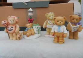Cherished Teddies Ornaments x 5