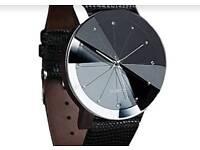 Women faux leather watch