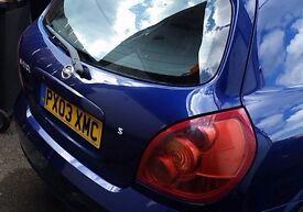 Nissan Almera S, 7 months MOT, no advisories, 125000 mileage
