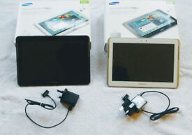 """Here For Sale are TWO Samsung Galaxy Tab2 16gb 10.1"""" Tablets"""
