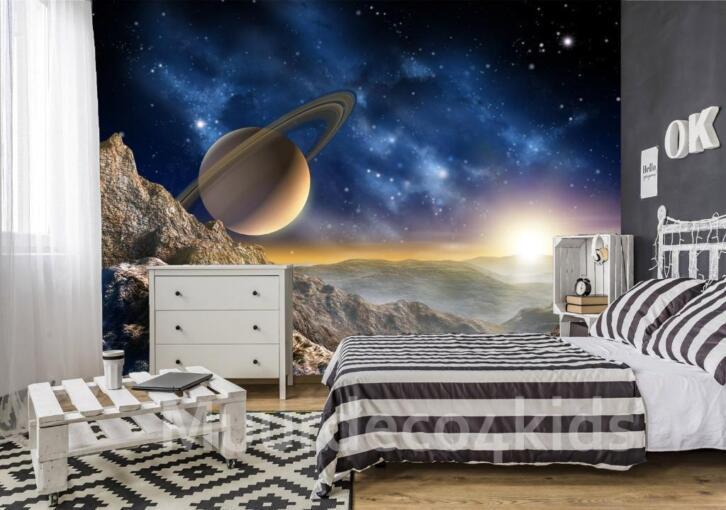 Behang Kinderkamer Ruimtevaart : Space vliesbehang l ruimtevaart behang cm dehands be