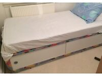 Single divan bed - storage underneath. Free. Need uplifted by Thursday evening latest.
