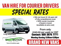 *CALLING ALL COURIER DRIVERS GREEN MOTION HAVE BRAND NEW VANS AVAILABLE TO HIRE SWB/LWB/SMALL VAN