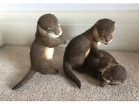 2x rare Country Artists Otter Cubs Ornament 2002 Figurine Natural World Collection 02313