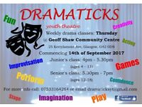 Drama Classes with Dramaticks youth theatre!