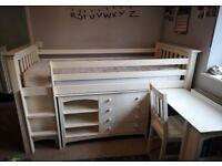 Julian Bowen Single cabin bed with furniture ans mattress