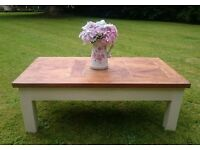 Solid Parquet Style Solid Farmhouse Coffee Table #REDUCED FOR BANK HOLIDAY WEEKEND#
