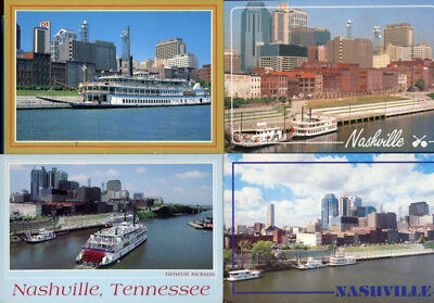 Lot of 4 Nashville Tennessee tn Riverboats postcards