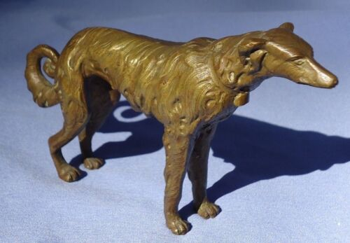 "art deco bronze BORZOI 6"" dog"