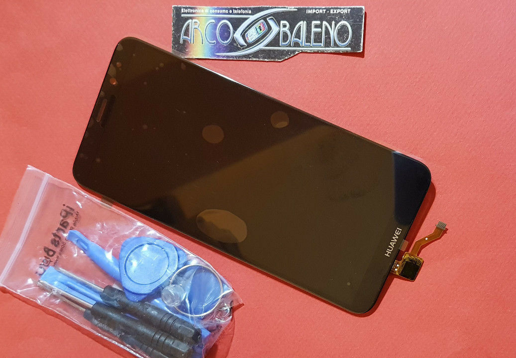 DISPLAY LCD+TOUCH SCREEN SCHERMO HUAWEI HONOR 7X NERO VETRO BND-L21 +TOOLS