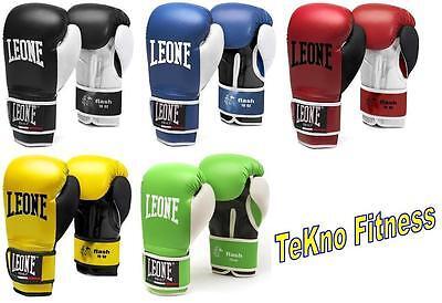 GUANTONI LEONE SPORT FLASH GN083  10OZ BOXE KICK THAY MMA VARI COLORI GUANTI