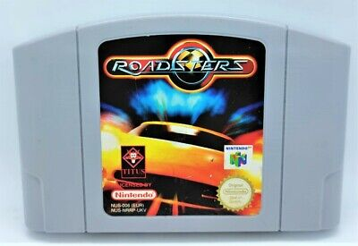 Roadsters Video Game Video Game for Nintendo N64 PAL TESTED