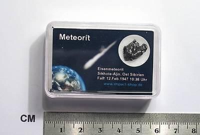 Meteorit Sikhote - Alin in Präsentationsbox / Meteorite / Météorite / Meteoriti