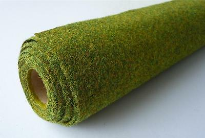 "48"" x 24"" Summer Mix Hairy Grass Mat Roll Javis MAT2 00/N Gauge Model Railways"