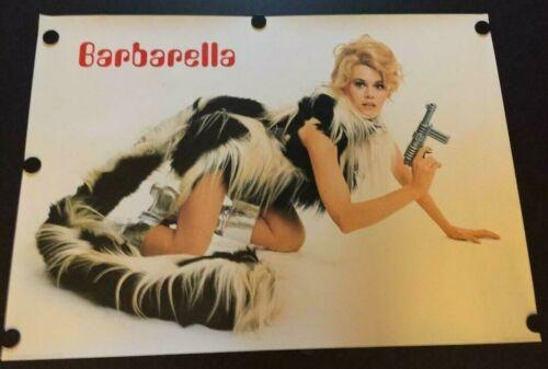 VERY RARE 1998 Jane Fonda Barbarella Poster Very Sexy! Printed in the UK 24 x 34
