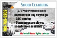 Snow Clearing  Great Rates 24/7 - Christmas Light Installation