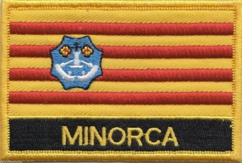Spain Balearic Islands Minorca Menorca Flag Embroidered Patch - Sew or Iron on